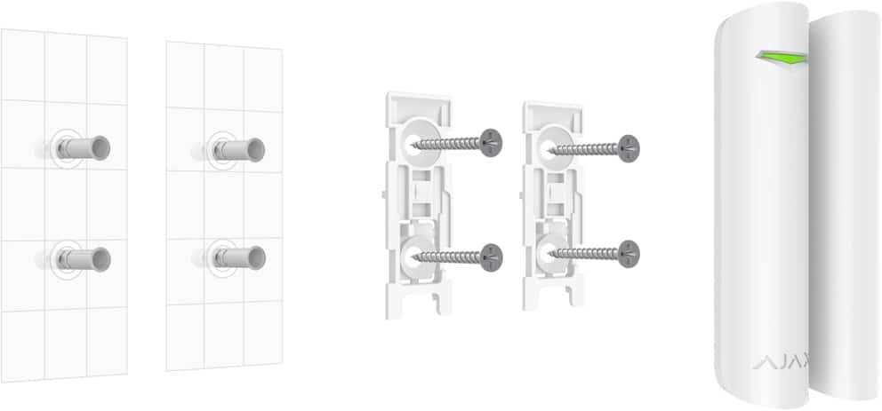 Ajax DoorProtect eenvoedige installatie