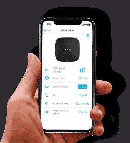 draadloos alarmsysteem app